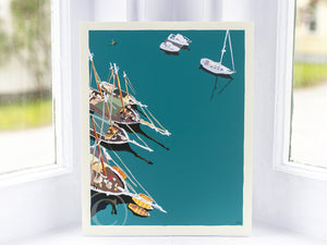 "Windjammers in Camden Harbor Art Print 8"" x 10"" Wall Poster"