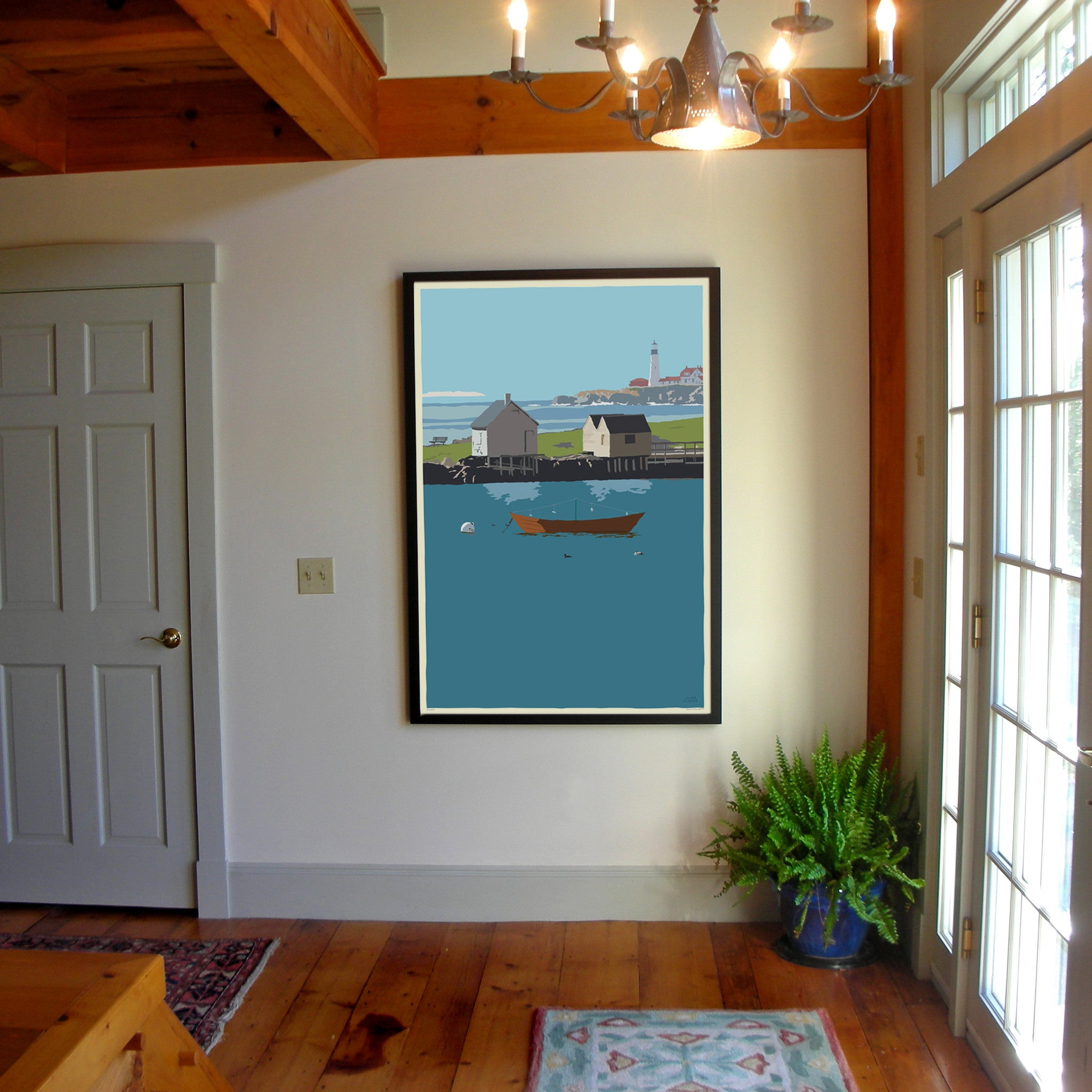 "Studio Pick up - Willard Beach Art Print 36"" x 53"" Framed Wall Poster - Maine"