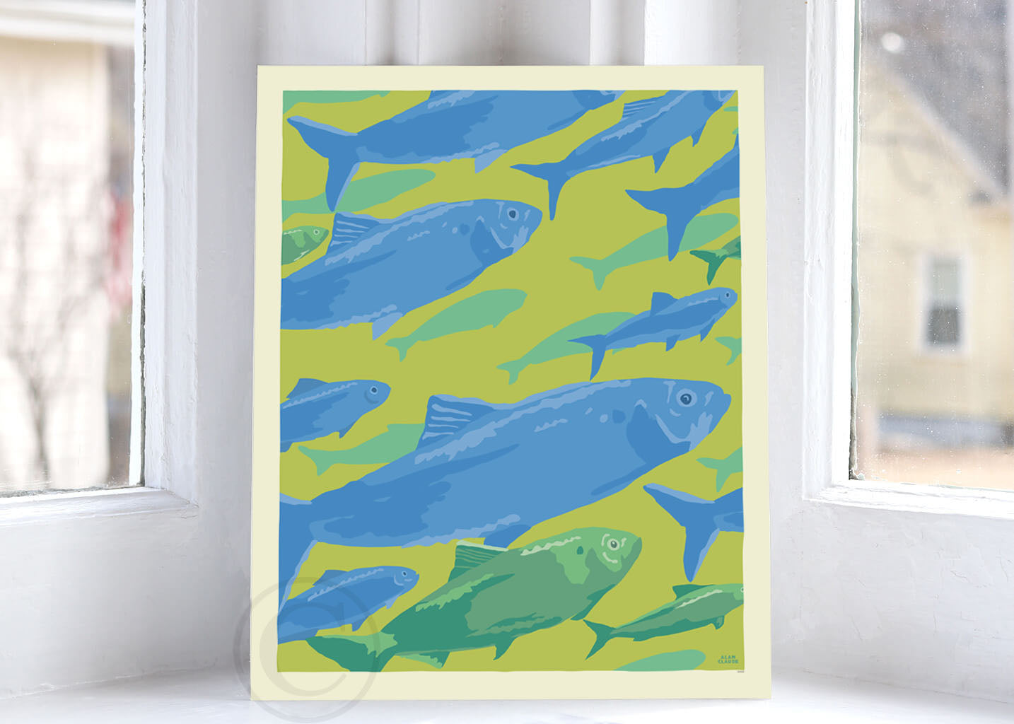 "Alewives On The Move Art Print 8"" x 10"" Wall Poster By Alan Claude"