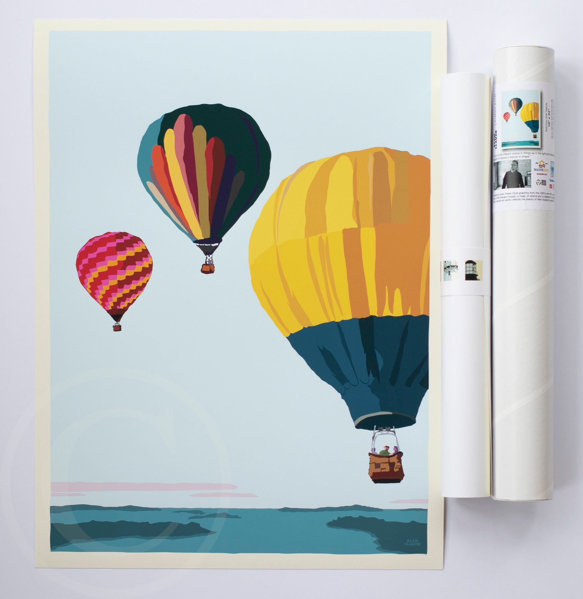 "Balloons Over Islands Art Print 18"" x 24"" Wall Poster"