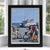 "Block Island Bicycle Girls Art Print 8"" x 10"" Framed Travel Poster - Rhode Island"