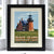 "Block Island Southeast Light Art Print 8"" x 10"" Framed Travel Poster - Rhode Island"