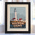 "Boston Light Art Print 8"" x 10"" Framed Travel Poster - Massachusetts"
