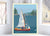 "Hoist The Sail Art Print 8"" x 10"" Wall Poster By Alan Claude"