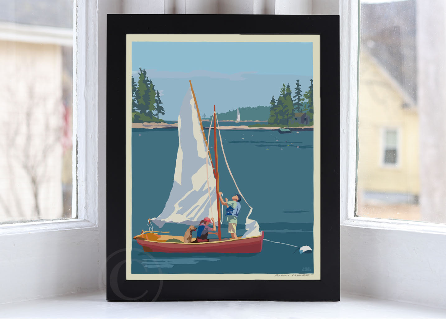 "Hoist The Sail Art Print 8"" x 10"" Framed Wall Poster By Alan Claude"