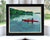 "Kayaking on a Lake Art Print 8"" x 10"" Framed Wall Poster - Maine"