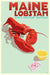 "Maine Lobstah Art Print 24"" x 36"" Wall Poster By Alan Claude"