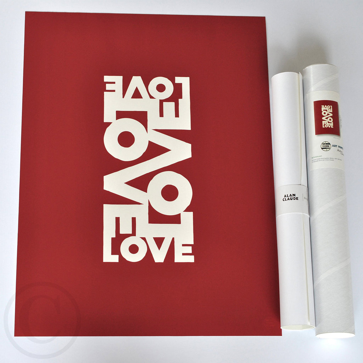 "Love Energy Red Art Print 18"" x 24"" Wall Poster"