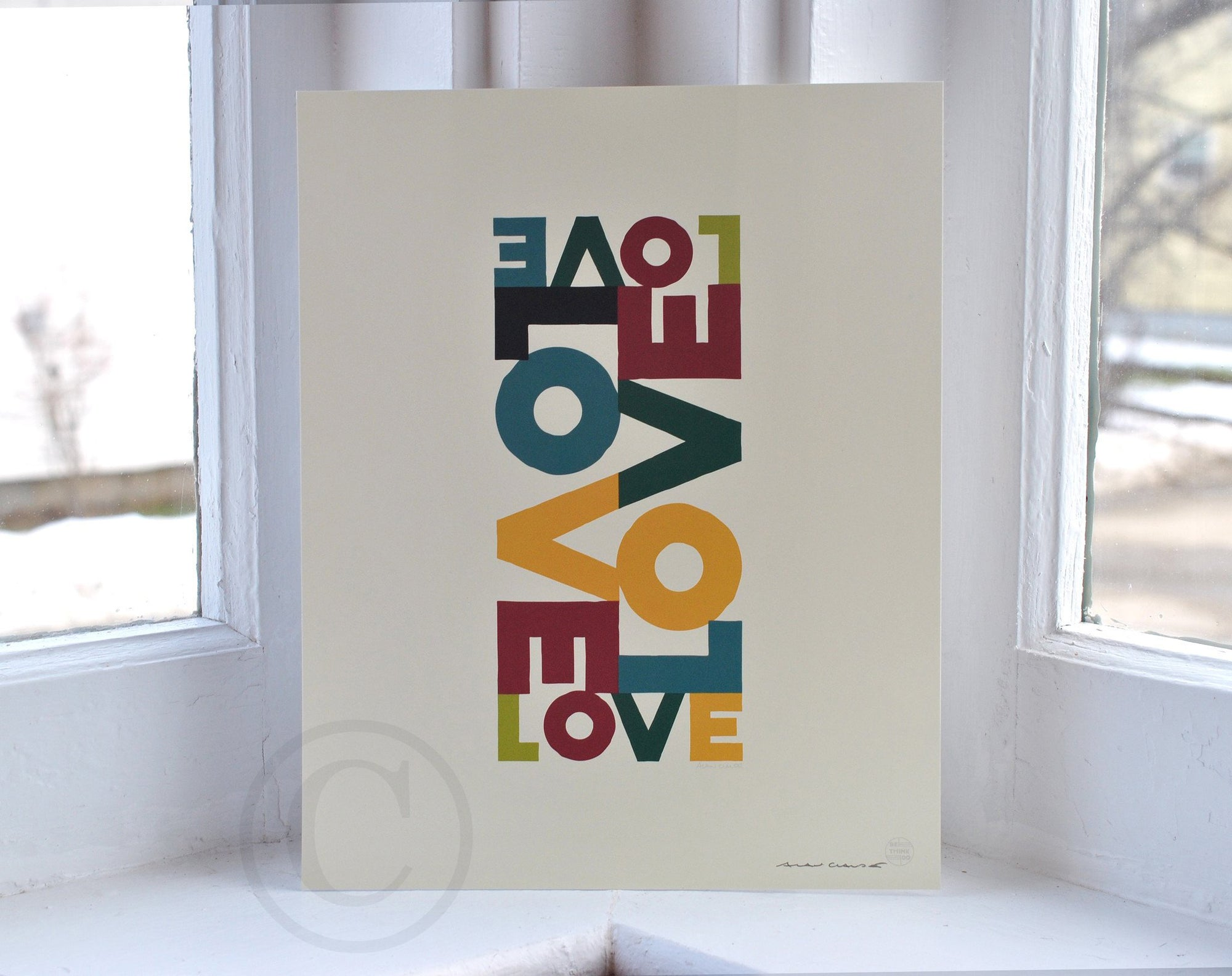 "Love Energy - Retro Art Print 8"" x 10"" Wall Poster"