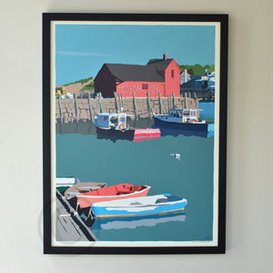 "Motif No. 1 Art Print 18"" x 24"" Framed Wall Poster - Massachusetts"