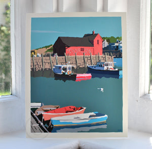 "Motif No. 1 Art Print 8"" x 10"" Wall Poster - Massachusetts"
