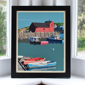 "Motif No. 1 Art Print 8"" x 10"" Framed Wall Poster - Massachusetts"