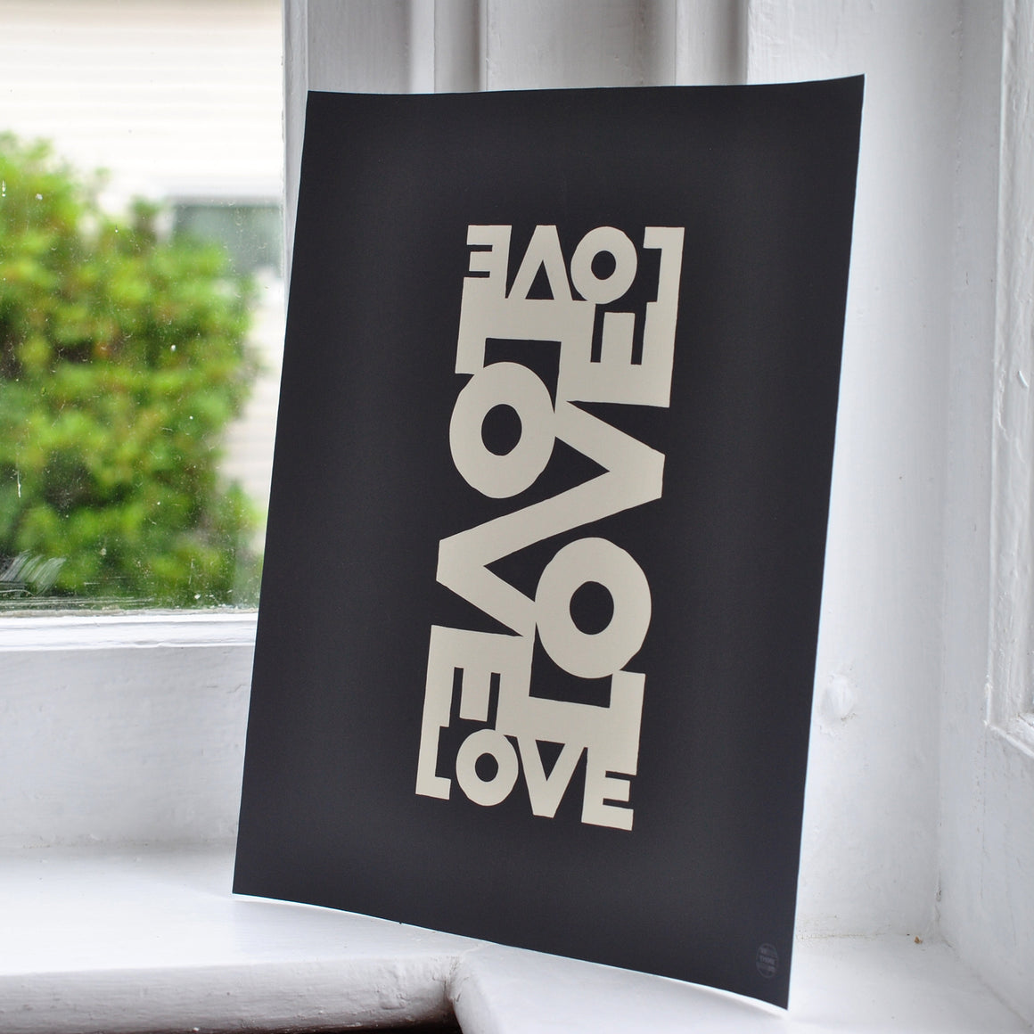 "Love Energy Graphite Art Print 8"" x 10"" Wall Poster"