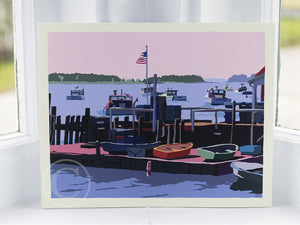 "Spruce Head Island Art Print 8"" x 10"" Wall Poster - Maine"