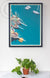 "Windjammers in Camden Harbor Art Print 18"" x 24"" Framed Wall Poster"