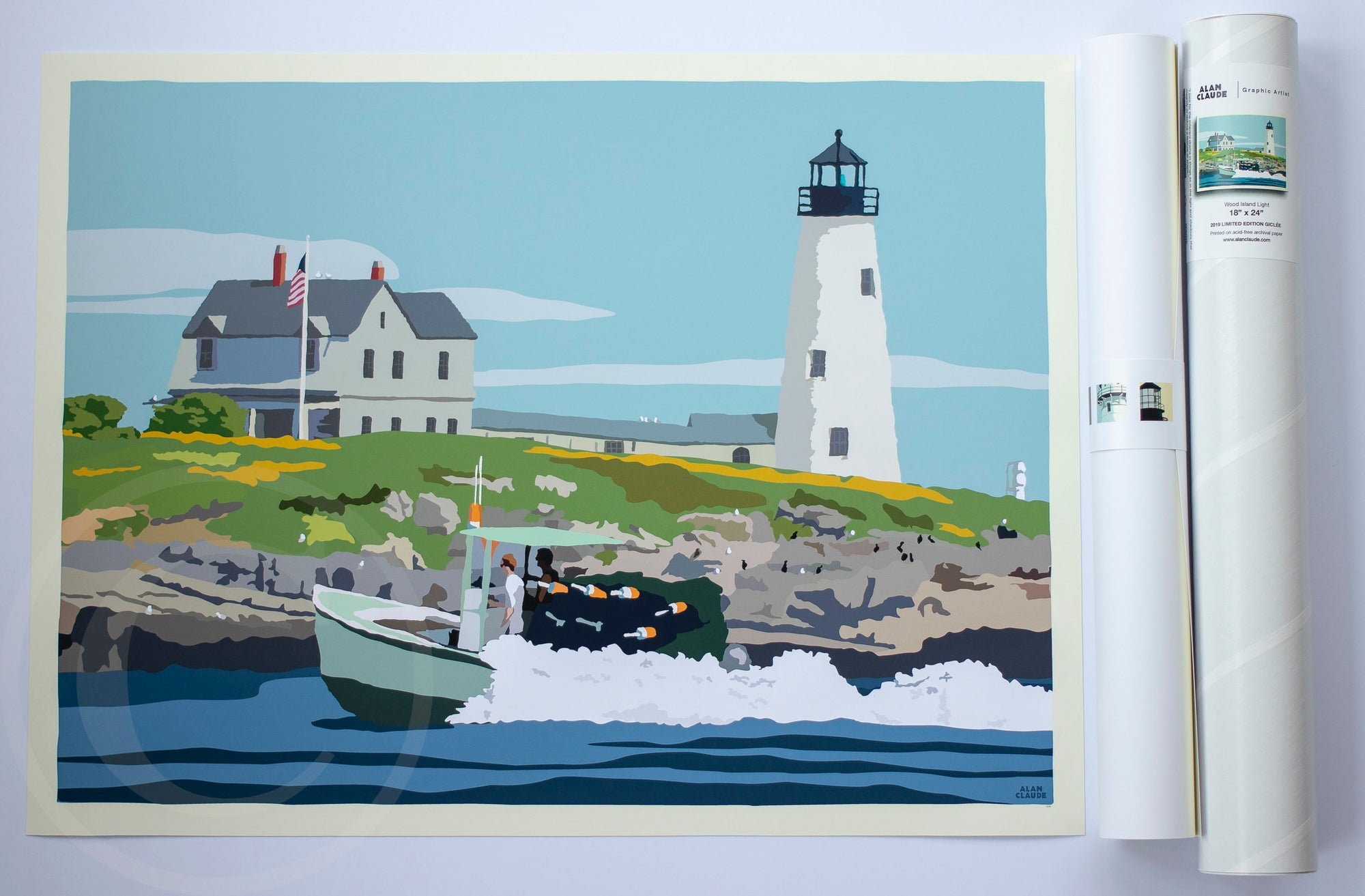 "Wood Island Light Art Print 18"" x 24"" Wall Poster"