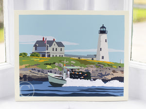 "Wood Island Light Art Print 8"" x 10"" Wall Poster"