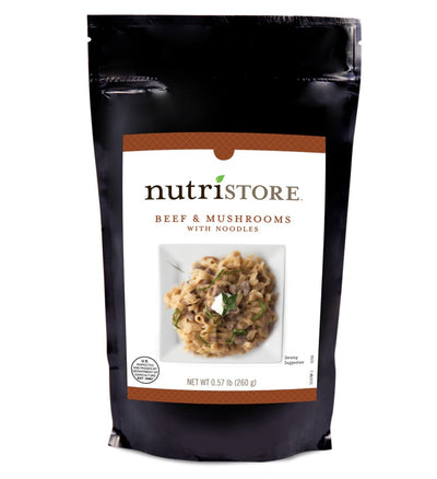 Nutristore™ Beef and Mushrooms With Noodles Entrée