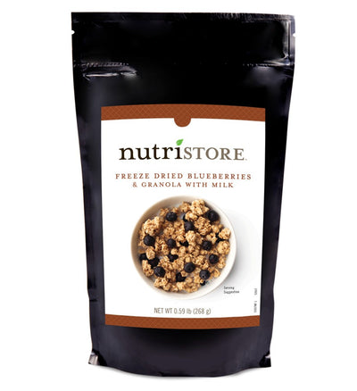 Nutristore™ Breakfast Granola With Blueberries and Milk
