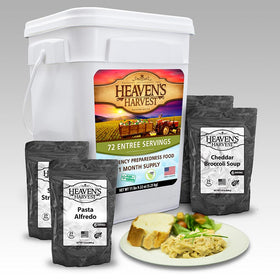 Heavens Harvest Survival Food Entree Bucket
