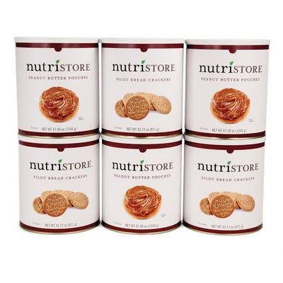 Nutristore™ Pilot Bread and Peanut Butter Variety Kit