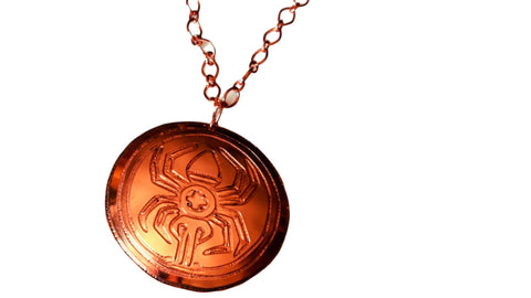 water spider pendant by Greg Stice -Cherokee Copper Artist