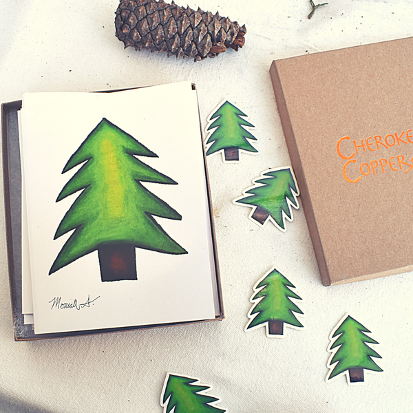 Cherokee Pine tree Stationery Set.