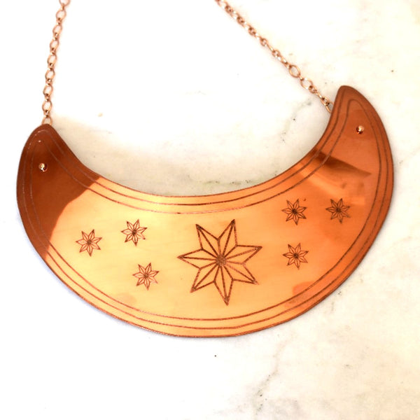 Custom 7 Stars Gorget - by Cherokee Copper