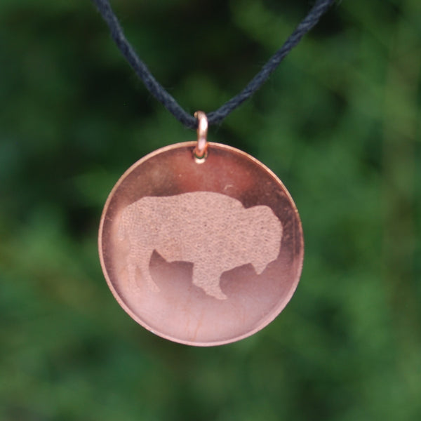 Buffalo Pendant by Cherokee Copper