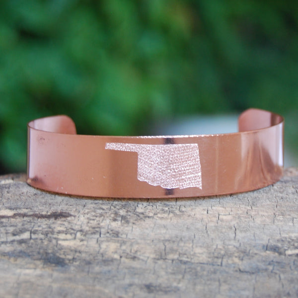 Oklahoma Cuff in Copper by Cherokee Copper