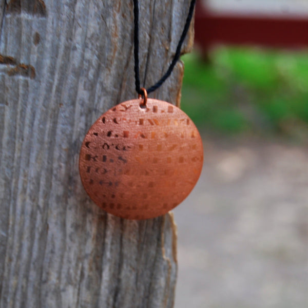 Sequoyah Pendant by Cherokee Copper