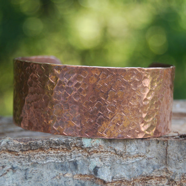 Pebble Hammered Copper Cuff