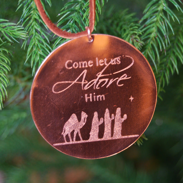 Wise Men Ornament in Copper by Cherokee Copper