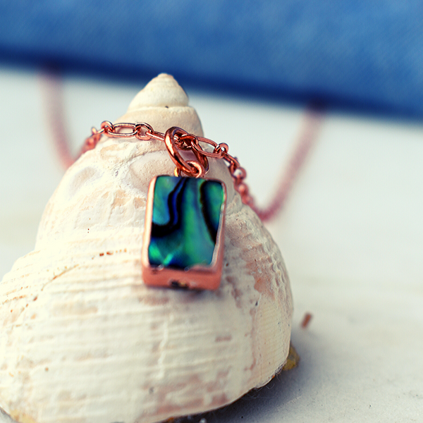 Lydia - Abalone Necklace