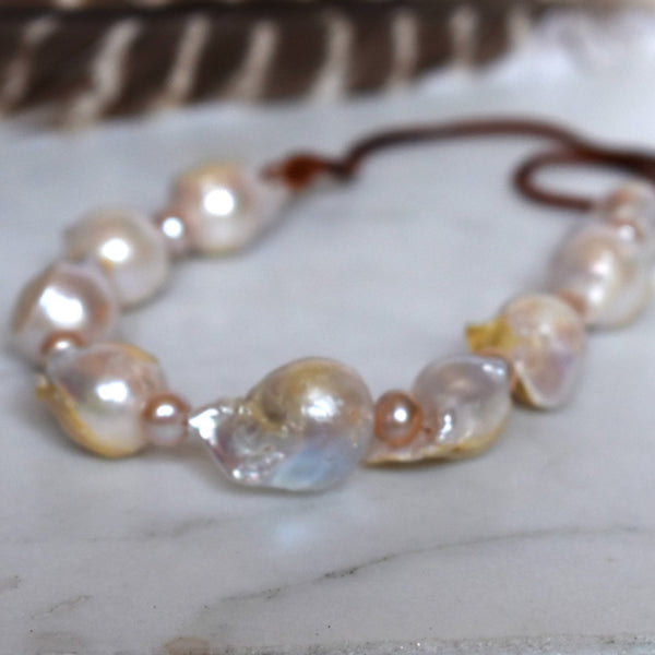 Chunky Baroque Pearl Necklace