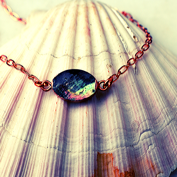 Lillie Necklace in Black Lip Shell