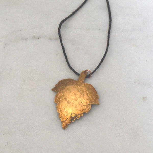 Golden Leaf Pendant