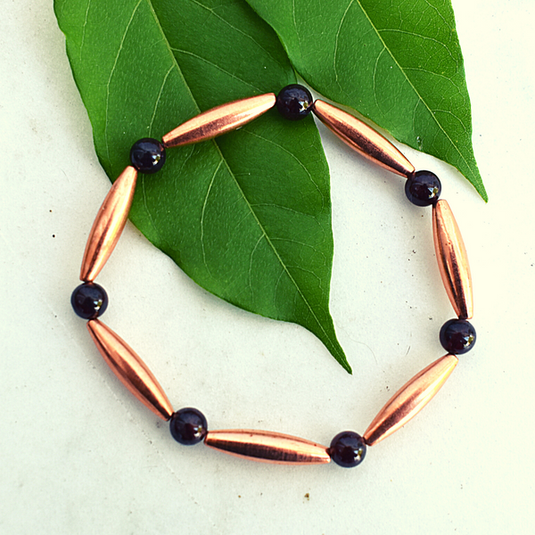 Tsegi Copper and Garnet Bracelet
