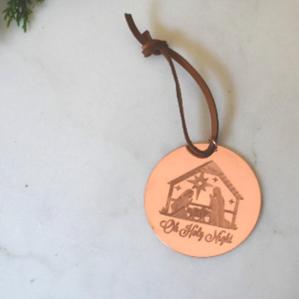 O Holy Night  Ornament in Copper by Cherokee Copper