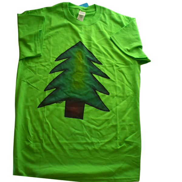 PIne Tree T-Shirt by Mesmoe Art