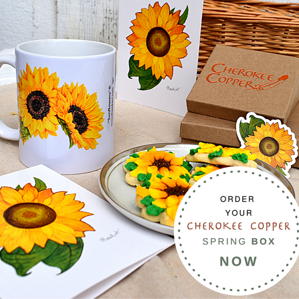 Spring Sunflower Box by Cheroeke Copper Tulsa OKlahoma