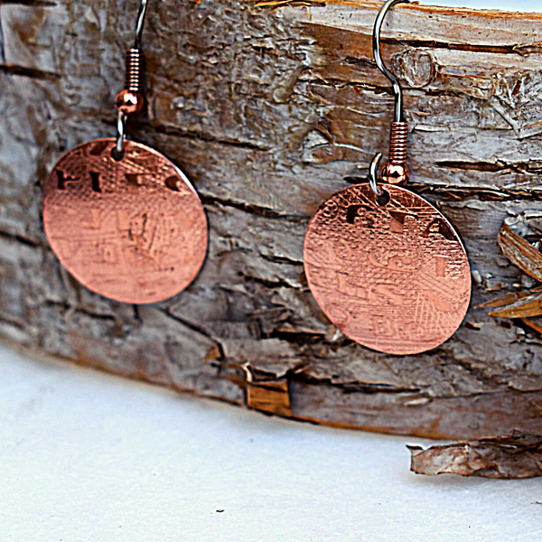 Sequoyah Earrings by Cherokee Copper