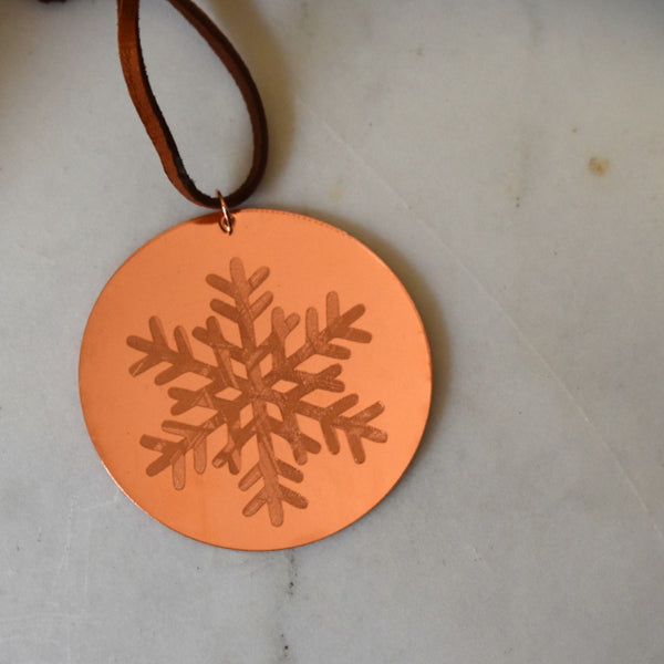 Snowflake Ornament in Copper by Cherokee Copper