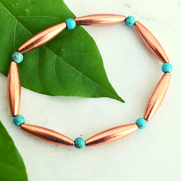 Tsegi Copper and Turquoise Bracelet