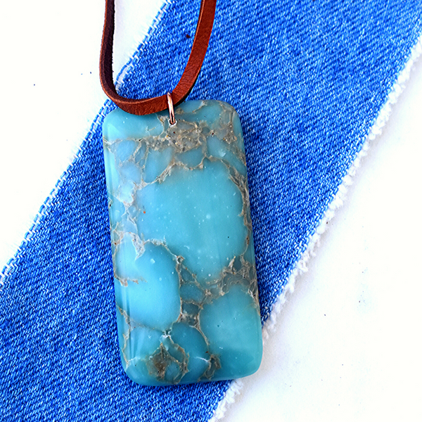 Iris  Pendant Necklace in Chalcedony