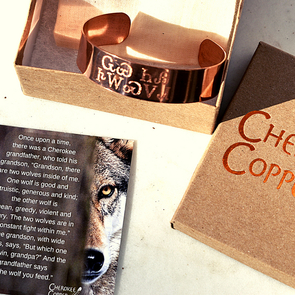 Riley Wolf You Feed Cuff in Copper