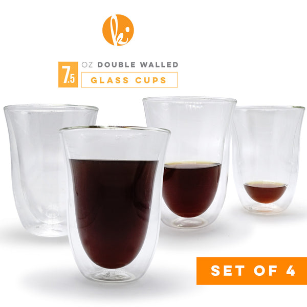 Double Walled Latte Glasses, 7.5oz