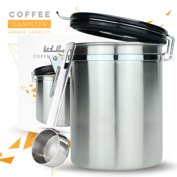 Stainless Steel Coffee Canister with AirFresh Valve Technology 17oz