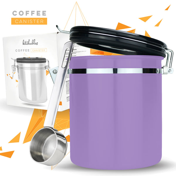 Stainless Steel Coffee Canister with AirFresh Valve Technology 16oz