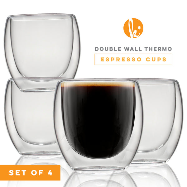 Double Wall Espresso Cups Shot Glasses